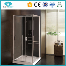 Wholesale Price Sliding jetted tub square shower room,steam shower combo