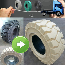 top sales Chinese linde forklift solid tire 6.00-9 5.00-8, 300x125 military aircraft tires