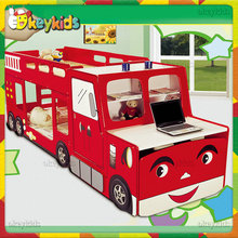 2016 wholesale kids wooden bunk car beds for sale, high quality children wooden bunk car beds for sale W08A044