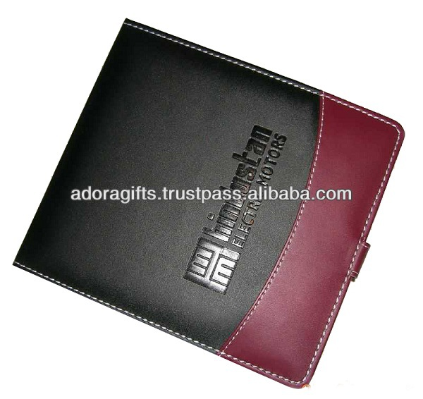 ADACD - 0001 hot custom cute cd case and bag / cheap leather cd holder / black & brown color dvd case