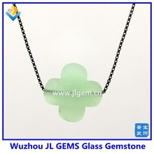 2015 Hot Product Nice Green Four Clover Glass Bead Pendant Necklace