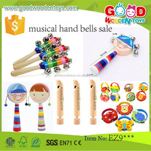 2017 Promotional Colorful Kids Music Instrument Sets Rhythm Stick Educational Wooden Musical Toy for Children