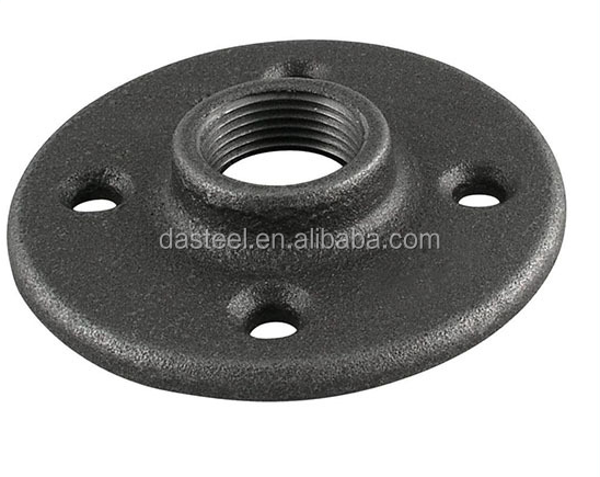 "1/2"" 3/4"" 1"" 1-1/4"" 1-1/2"" black cast iron pipe fitting floor Flange"