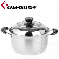 China Best Quality Charms Stainless Steel Multi-function white ceramic coating cookware set For Gifts Promotion