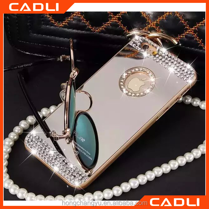 2016 Luxury diamond crystal cell phone case for Iphone 6 6s Fashional rhinestone bling back cover