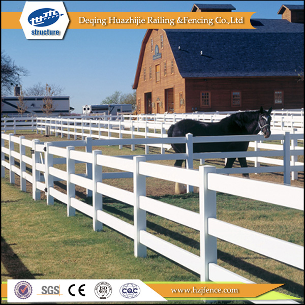 PVC rail ranch horse fencing designs