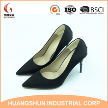 2017 Fashion Sexy Carved Metal High Heel Shoes Ladies Pump Shoes