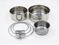 Pet Wholesale Stainless Steel Round Shaped Dog Bowl