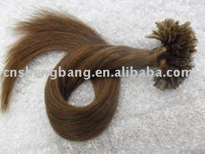 Pre-bonded hair 20inch 0.8g/stand 30# color,keratin hai