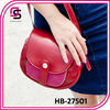 2014 fashion black and fuchsia colorblock pattern shoulder bag