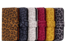 Wholesale smartphone fashion leopard grain leather case for iphone 6 plus