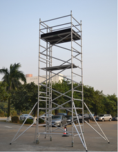 Double width used mobile scaffolding for sale aluminum scaffolding tower system