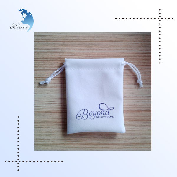 Customized printed logo velvet jewelry pouch