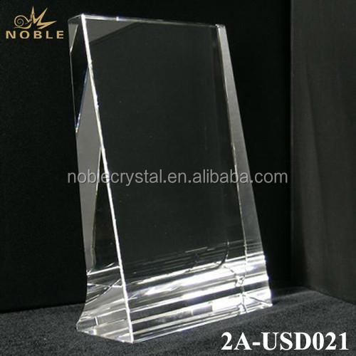 Clear Plain K9 Crystal Vertical Frame Blank Trophy Plaque