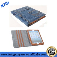 For iPad jeans leather cover