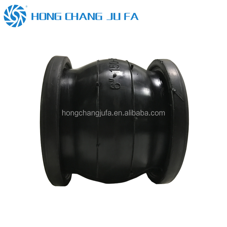 pipeline tube dn100 pn16 rubber joint/hypalon rubber expansion joint
