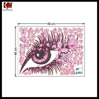 2016 Pink Butterfly eye 3D decorative stickers