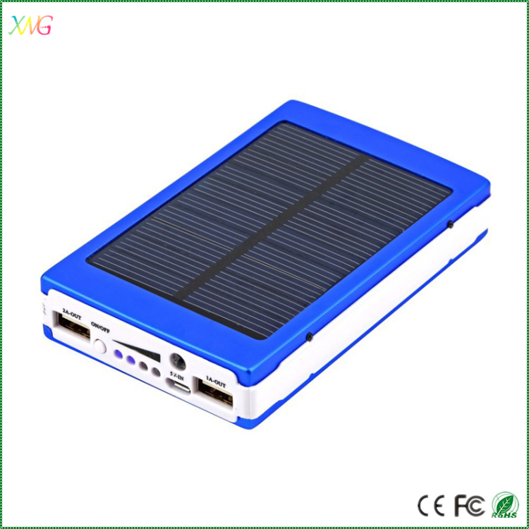 new products outdoor solar power bank phone power pack solar 10000mah