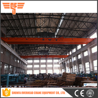 Pendent control workshop double girder bridge crane