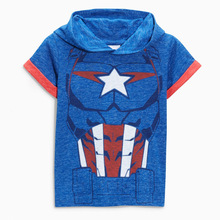 <strong>Boy's</strong> hooded short-sleeved cotton children's <strong>T-shirt</strong> children's short-sleeved <strong>T-shirt</strong>