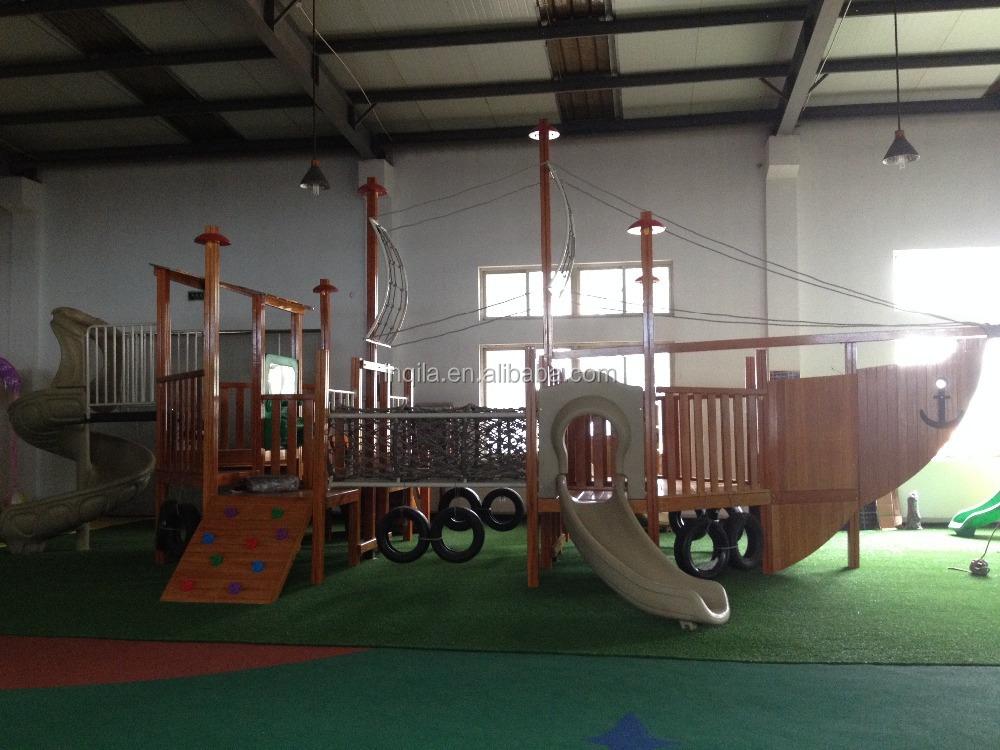 Large outdoor playground equipment children wooden pirate - Wooden pirate ship outdoor ...