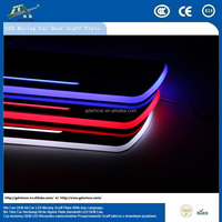 Custiomized Car Accessories LED Door Sill Scuff Plate/Door Scuff Pad With LED For Toyota Camry 2011 - 2015