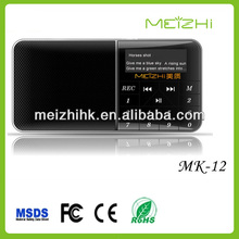 Mg radio portable mini usb, usb mini radio, digital audio player mk-12