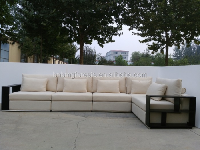 Hot Sales European Style Upholstered Fabric L-Shape Sectional Sofa
