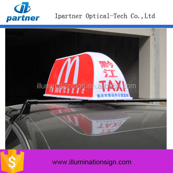 Taxi dedicated dome taxi dome light LED light boxes
