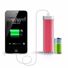 Universal cell phone battery charger mobiler 2600mah portable power pack