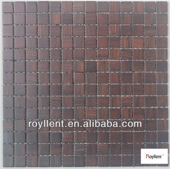 Royllent Wood Mosaic Tile wall material decoration