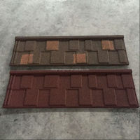 Double Color Shingle Stone Coated Roof Tile Synthetic Resin Roof Tile