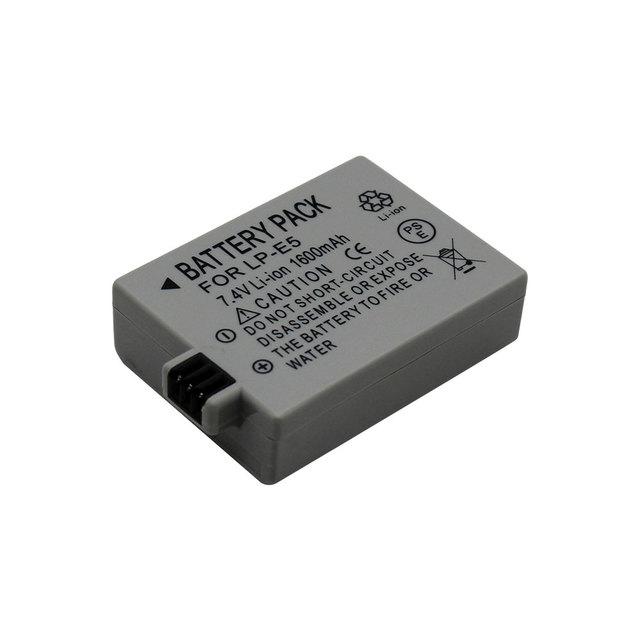 1600mAh Li-ion Camera Battery Pack LP-E5 for CANON EOS Rebel XS, Rebel T1i, Rebel XSi, 1000D, 500D, 450D Digital Cameras