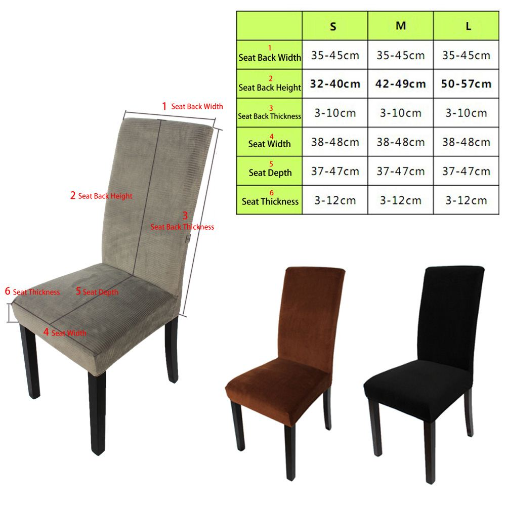 Soft Polyester Spandex Chair Cover Slipcover with Good Elasticity Suitable for Home Hotel Wedding Party Banquet