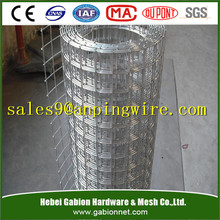 galvanzied welded wire mesh fence panel in 6 gauge
