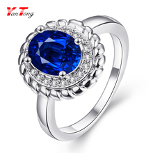 Women Ladies Graceful Clear Blue Diamond White Gold 1 to 4 Gram Vintage Class Ring