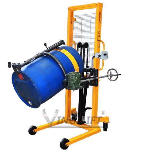 Hydraulic Vertical Lift : Ying lift scale equipped vertical hydraulic drum