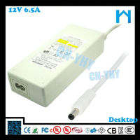Top quality for led bar ul 78w 12v 6.5a ac dc adapter