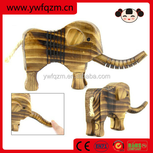 china wholesale teak wood elephant carving figurines wedding favors