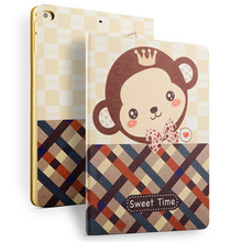 For iPad 5 6 Poplar PU Leather Printing Case, Leather Tablet Case For Apple Air 1 2 Case