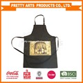 cheap custom printed black kitchen aprons
