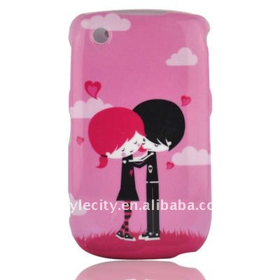 Lover Graphic Silicon Cover Case for BlackBerry Curve 3G 9300 / 9330 / 8520 / 8530