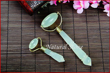 skin care handle massage roller natural jade stone facial roller face beauty massage tool beauty care tools face buaty massager