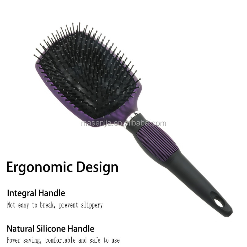 New 100% natural wooden vented hard boar bristle comb detangling hair brush for men and women