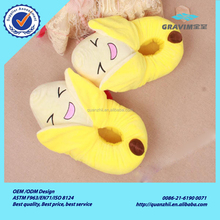 Fruit plush toy slipper type stuffed soft cheap wholesale plush house slipper