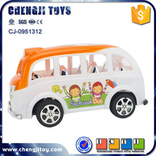 Cheap cars pull line vehicle mini school bus plastic toy bus for sale