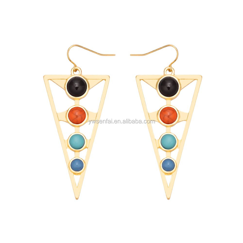 New hot sale latest design earrings, big fashion long hanging earrings, superstar accessories earrings
