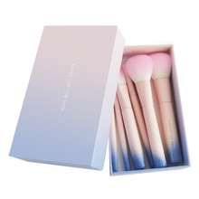 Factory Price Synthetic Hair and Pony Hair 7 pcs Gradient Makeup Brush Set With Gift Box