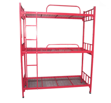high quality home dormitory steel 3 layer 3 sleepers triple metal bunk bed sale