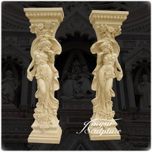 Hot Selling Hand Carved Greek Indoor Decorative Columns
